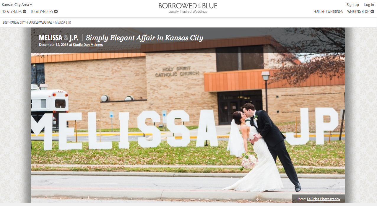 Borrowed & Blue featured wedding - Simply Elegant Kansas City wedding