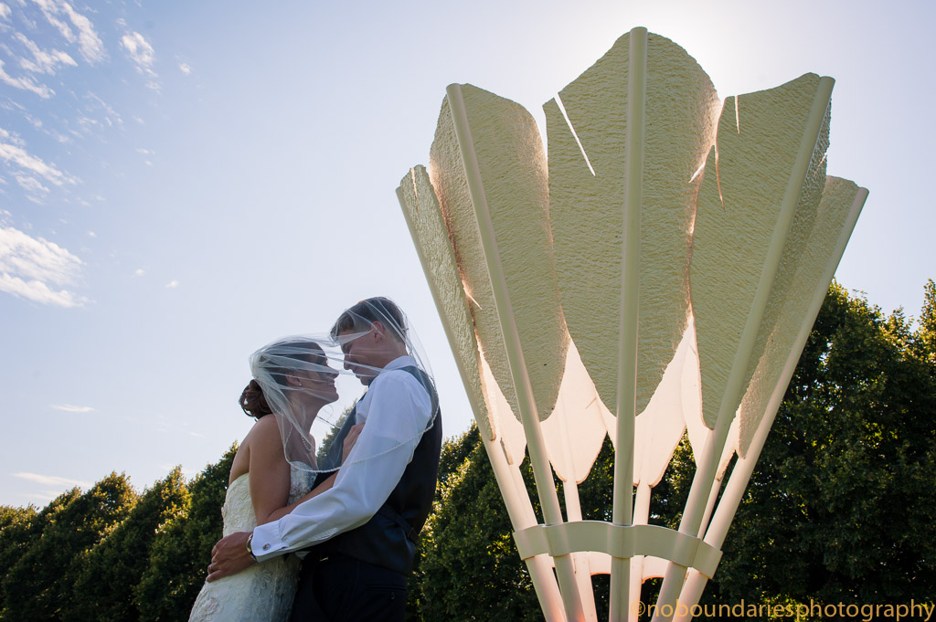 Kansas City shuttlecock -Rustic wedding