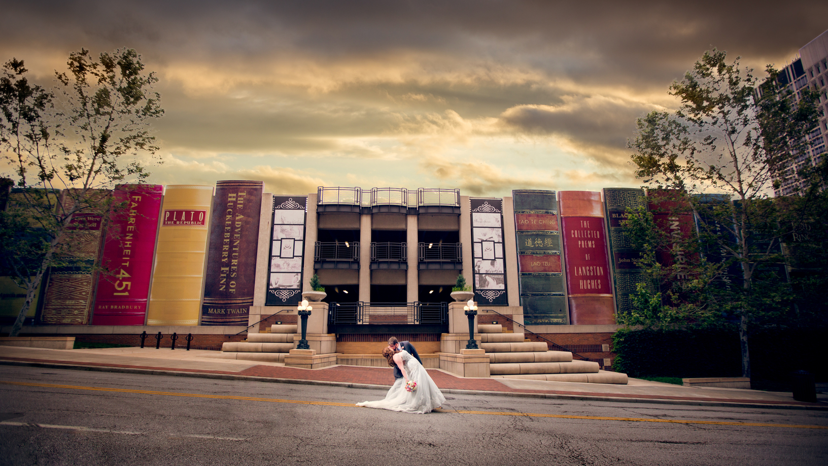 Real Weddings Melissa Jake Kansas City Library Wedding