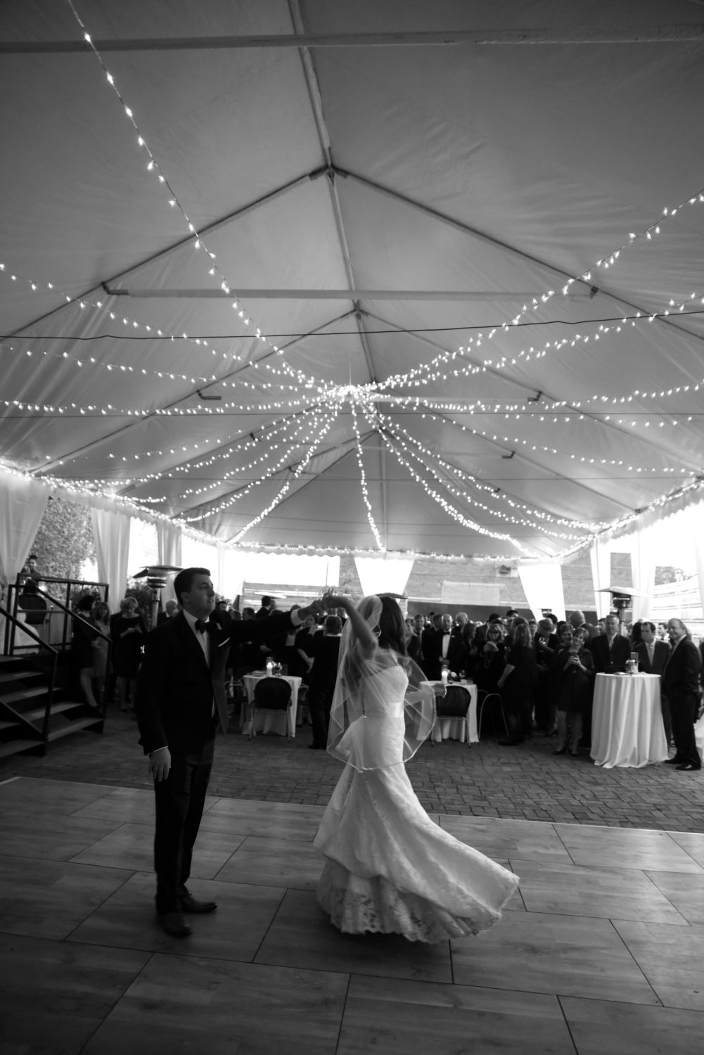 tented first dance