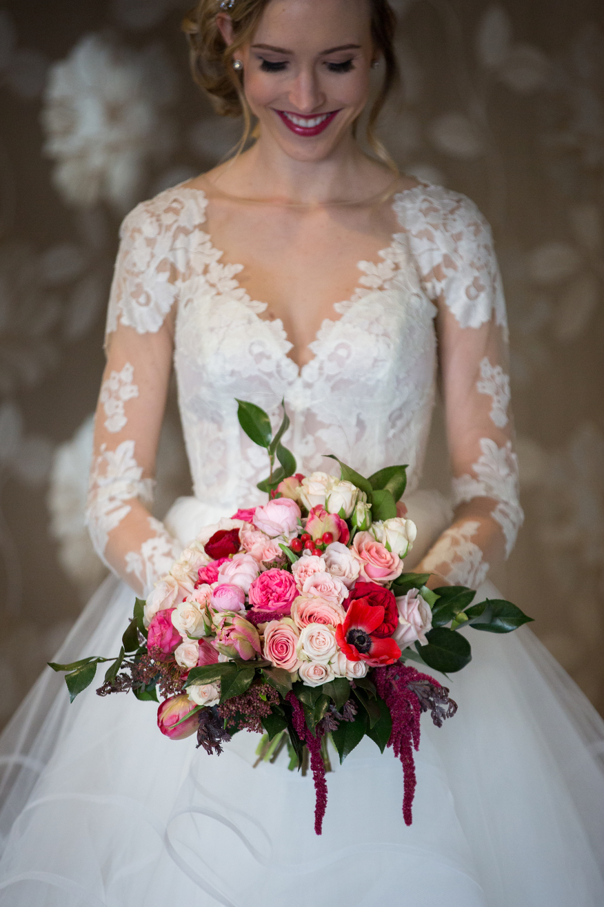 textural and bright wedding floral bouquet