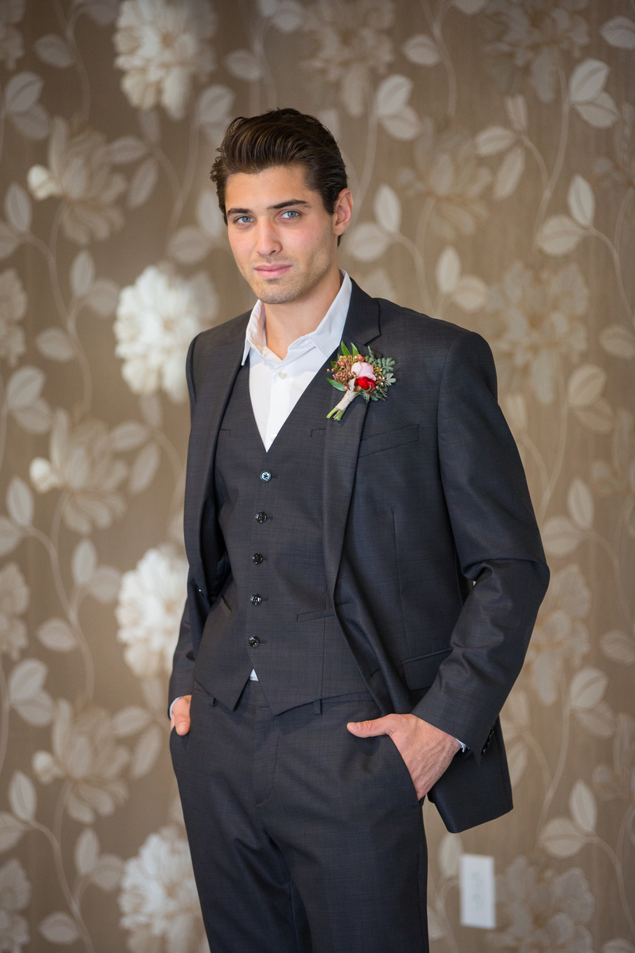 modern wedding menswear suit