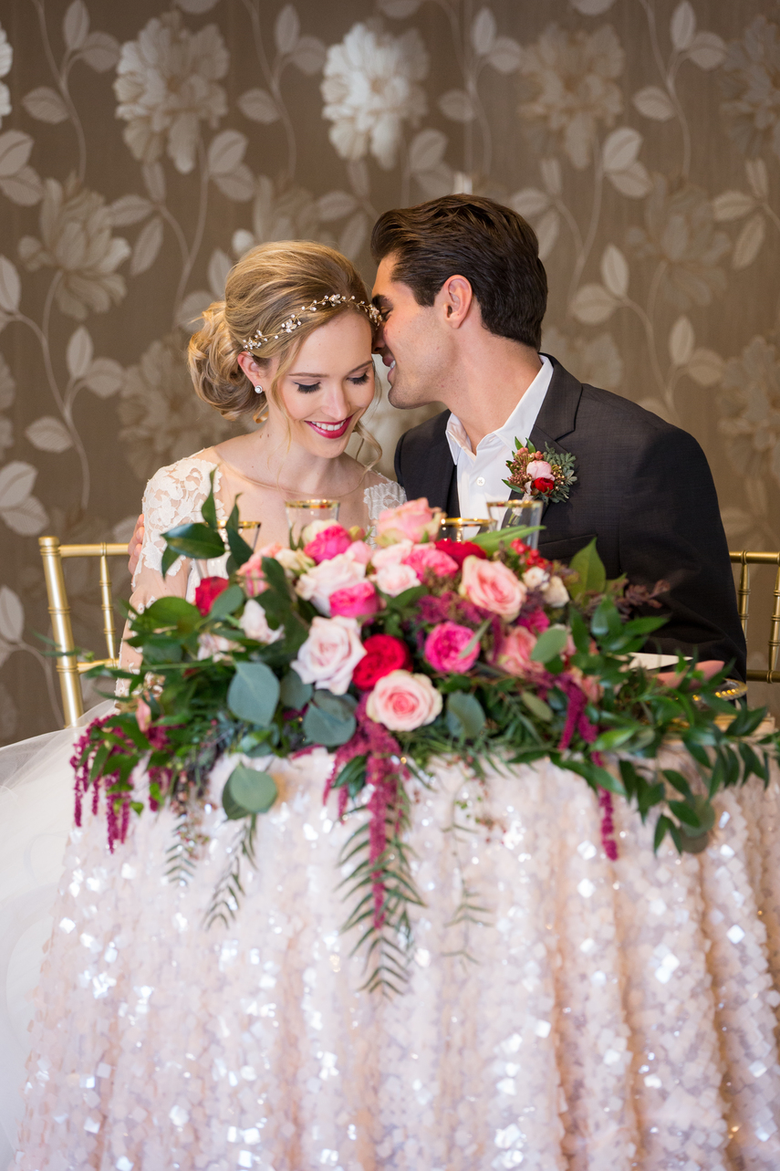 romantic sweetheart table wedding inspiration