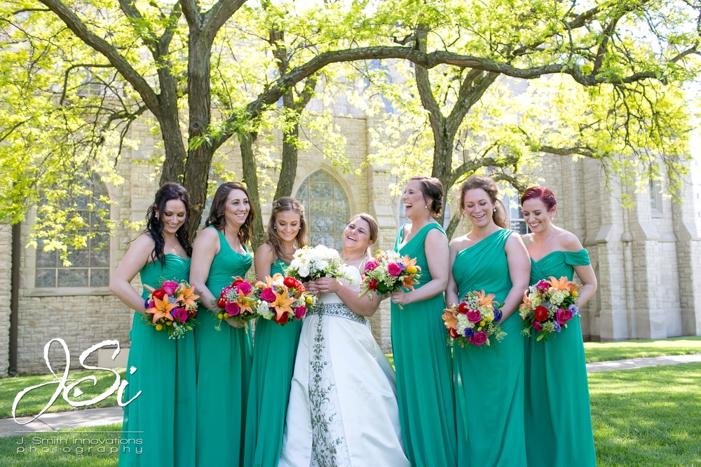 emerald Bridesmaids dresses weddington way bright spring florals