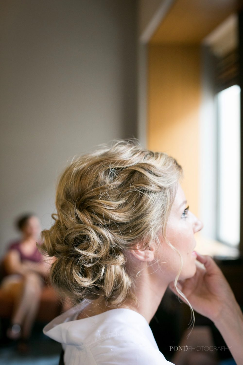 Bridal wedding hair updo