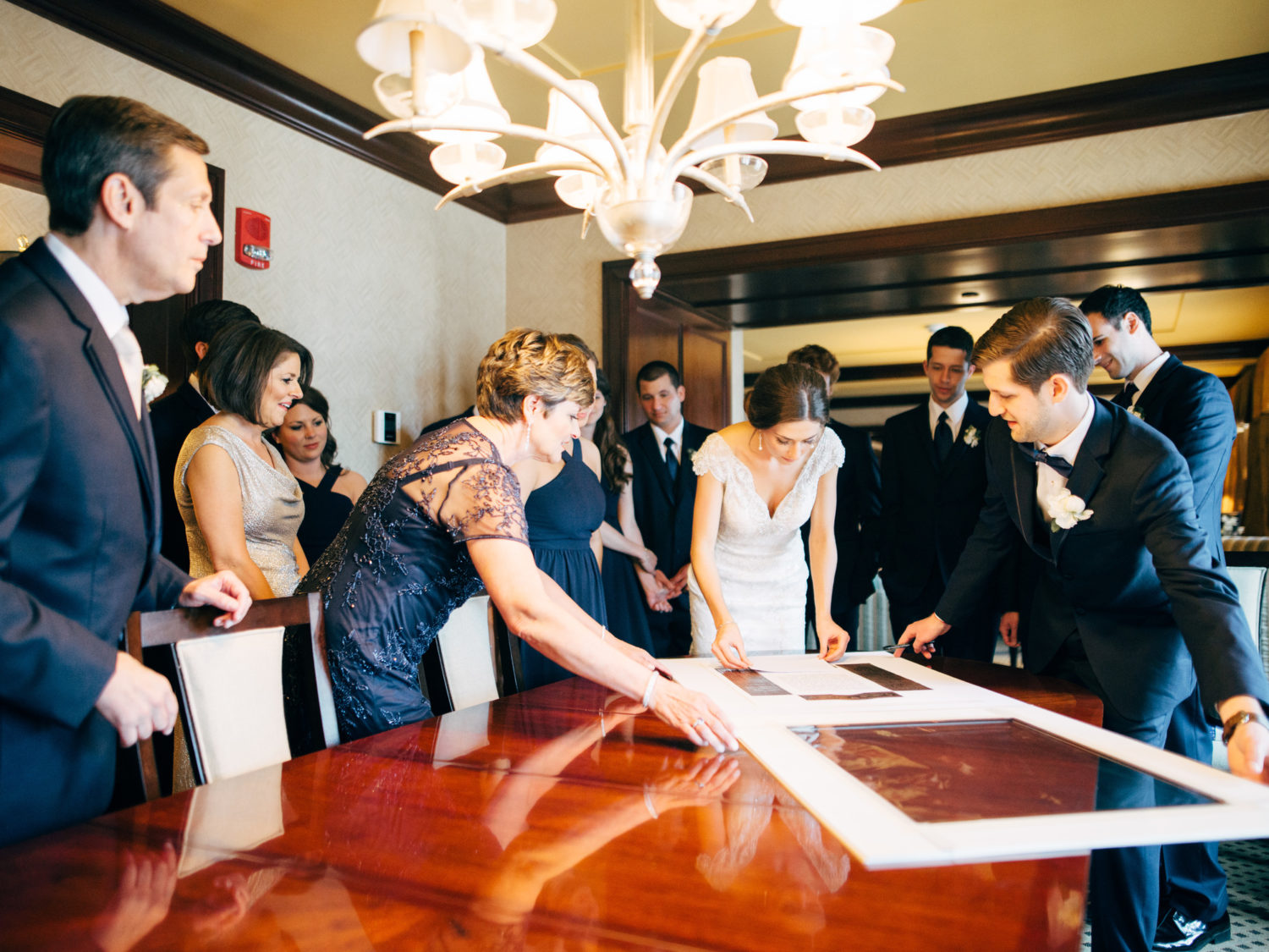 ketubah signing jewish wedding