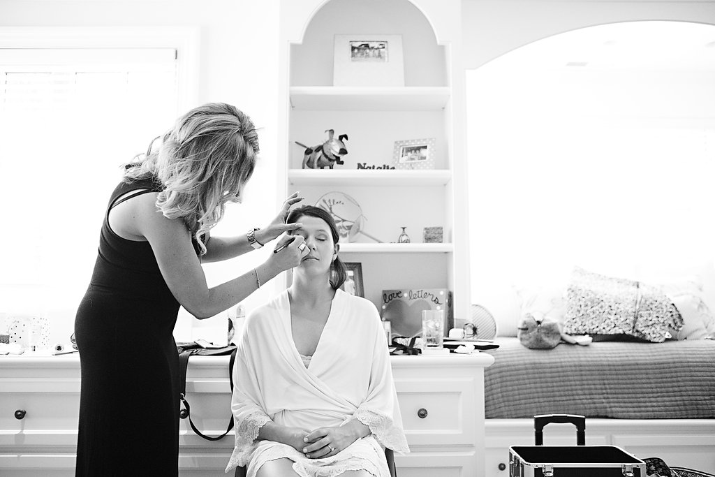 Glam KC wedding hair and makeup