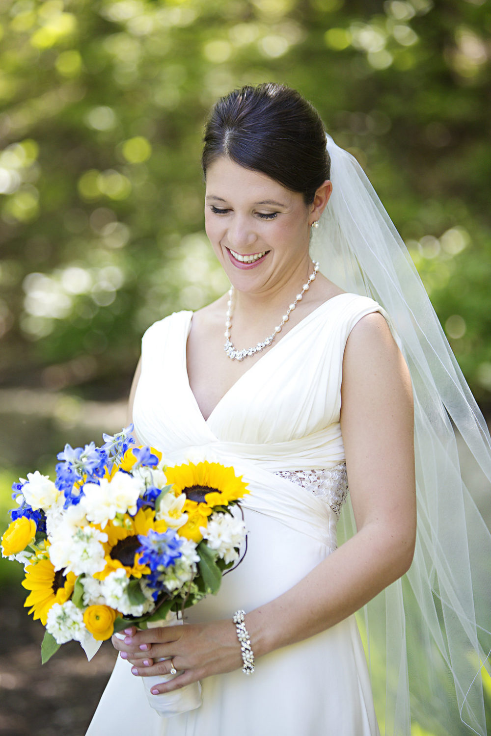 Sunflower wedding bouquet Sidelines Floral