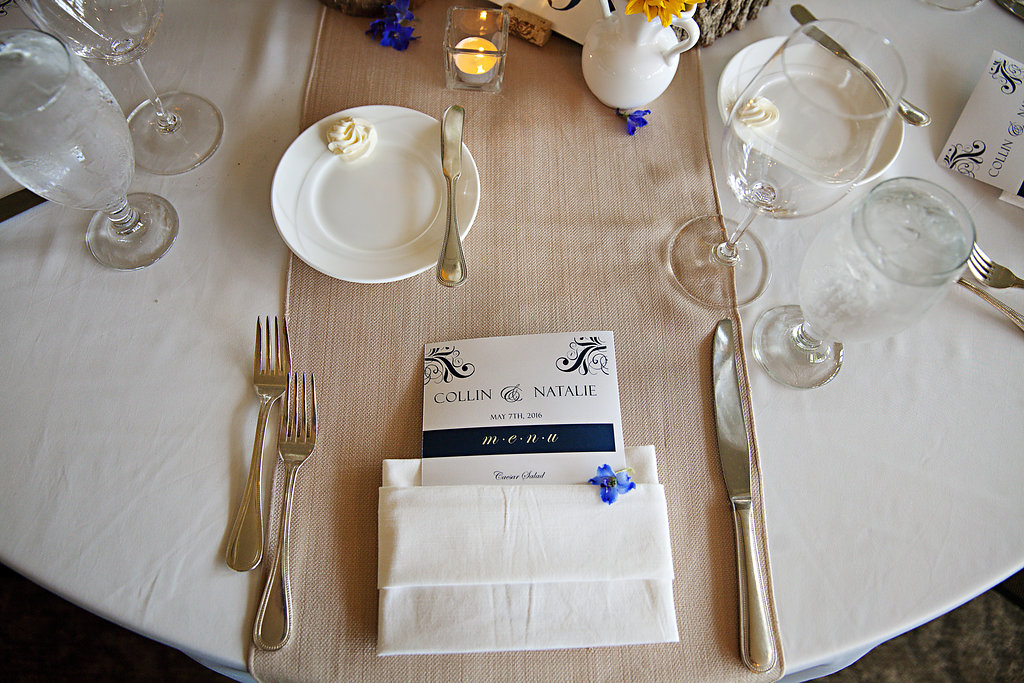 formal wedding dinner menus