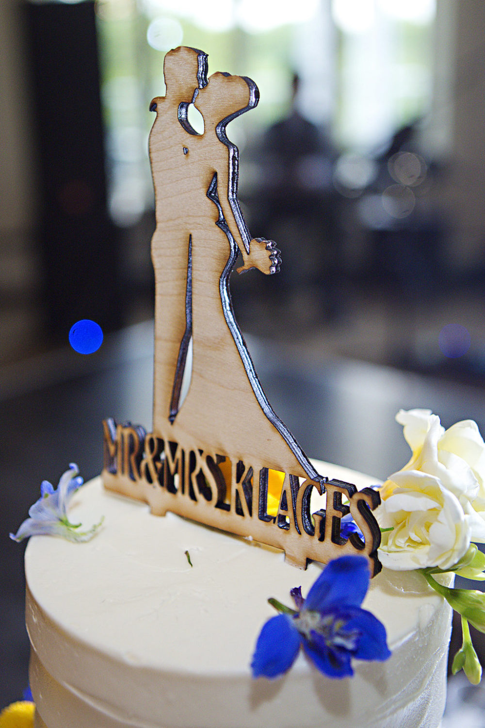 custom wooden cake topper