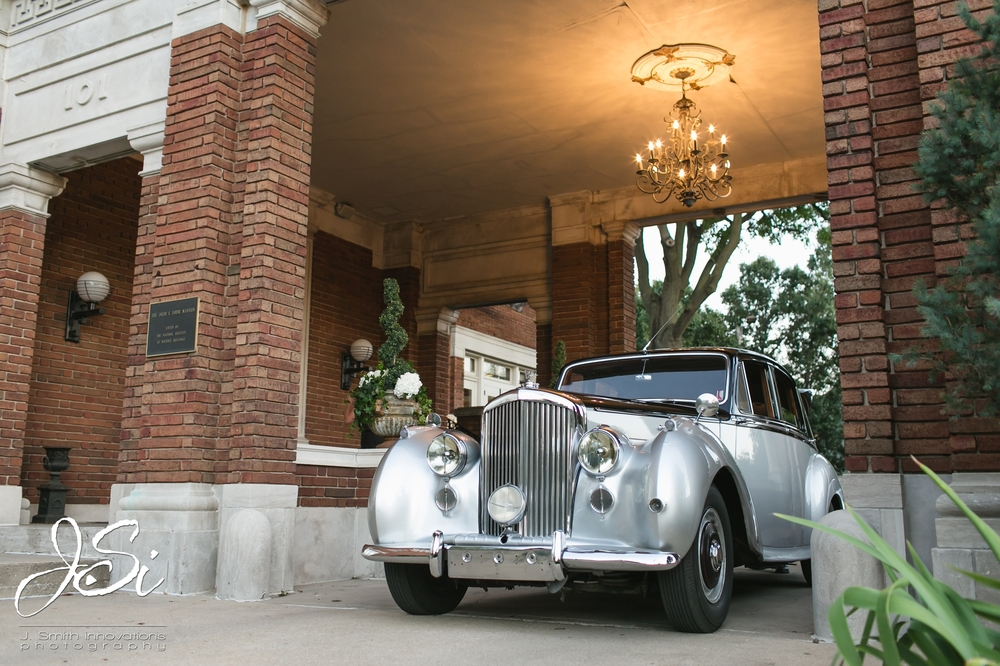 classic vintage car for wedding exit