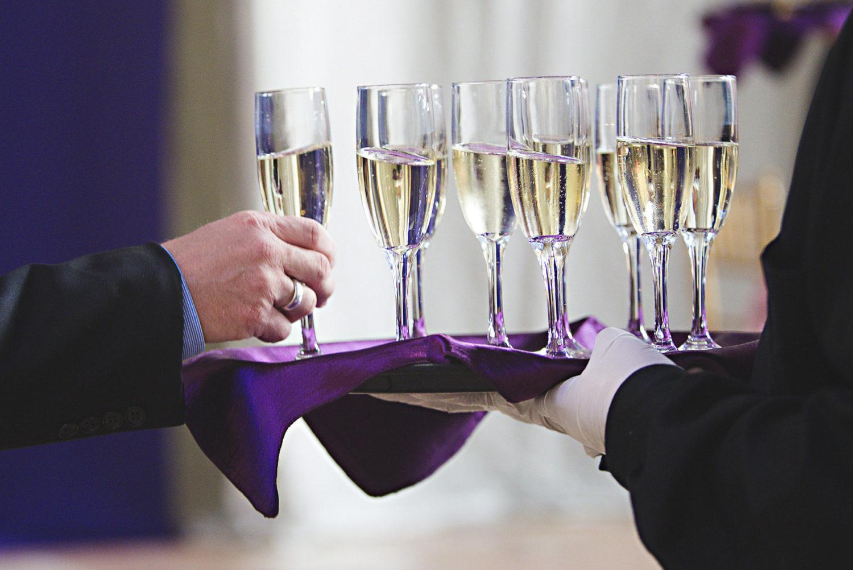 champagne toast formal wedding